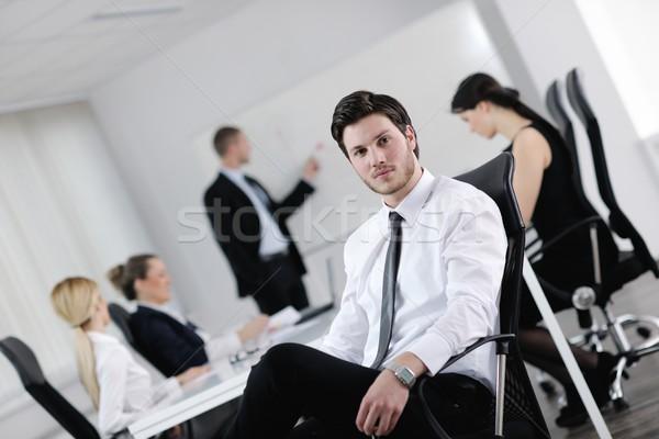 Stockfoto: Portret · knap · jonge · zakenman · collega's · mensen