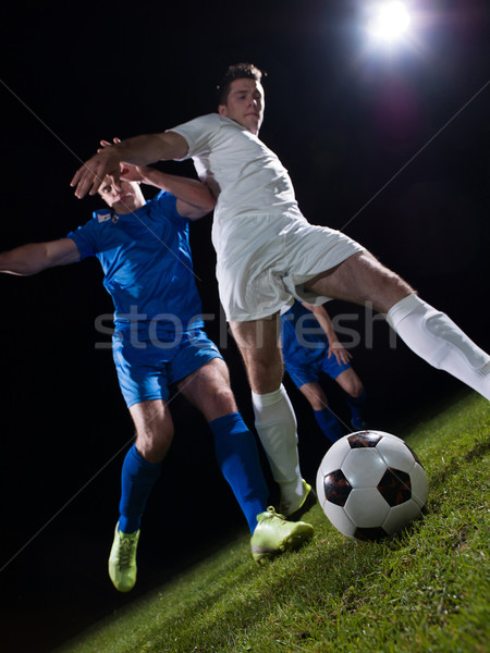 Stock photo: soccer players duel