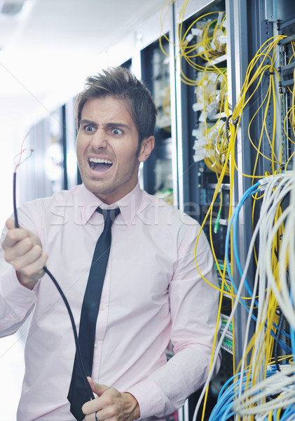 system fail situation in network server room Stock photo © dotshock