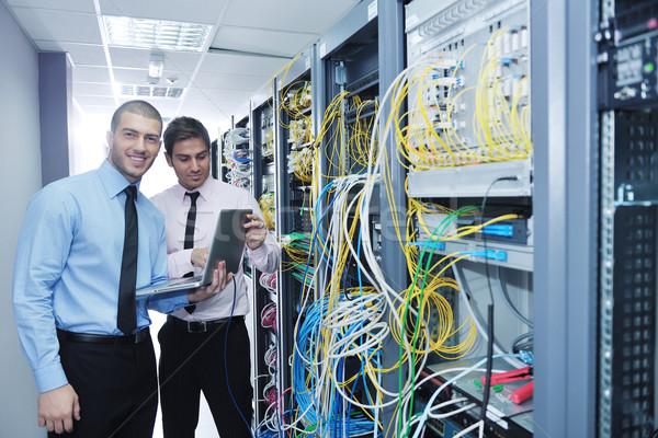 Сток-фото: Инженеры · сеть · сервер · комнату · группа · молодые