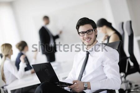Ritratto bello giovani uomo d'affari colleghi persone Foto d'archivio © dotshock