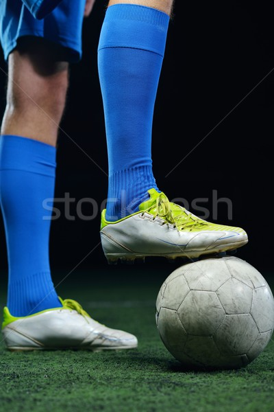 Footballeur coup balle football stade domaine Photo stock © dotshock