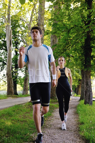 Young couple jogging Stock photo © dotshock