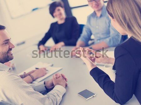 business people and engineers on meeting Stock photo © dotshock