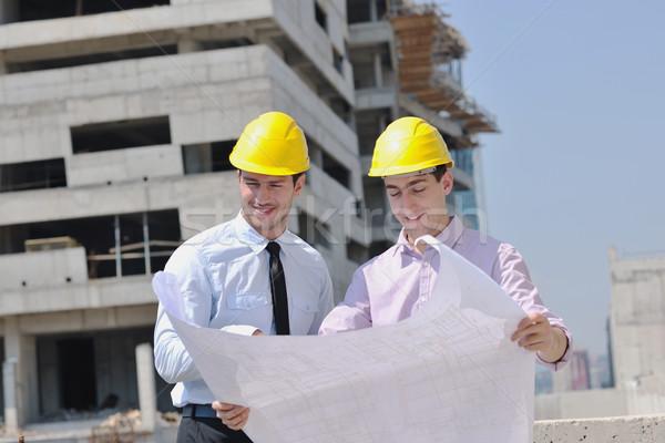 équipe gens d'affaires groupe architecte vérifier Photo stock © dotshock
