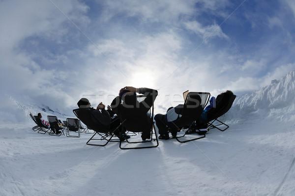люди группа снега зимний сезон счастливые люди весело Сток-фото © dotshock