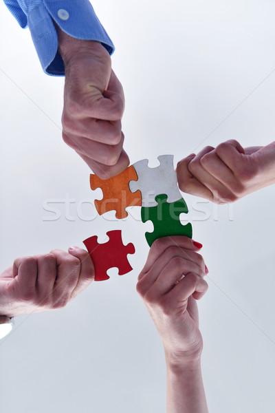 Foto d'archivio: Gruppo · uomini · d'affari · squadra · sostegno · help