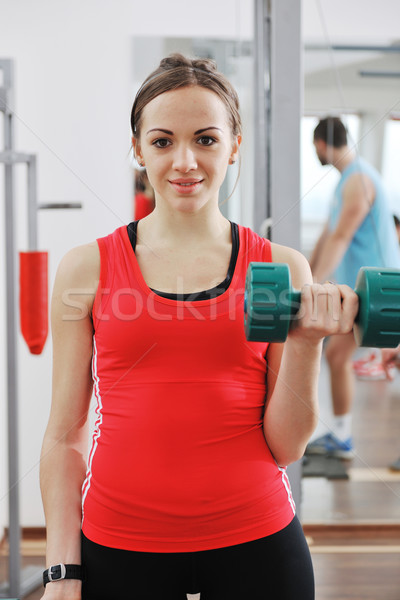 Stock photo: woman fitness workout with weights