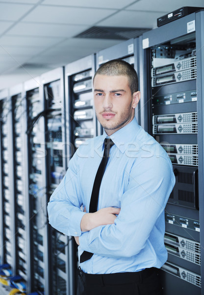 Jonge ingenieur server kamer knap Stockfoto © dotshock