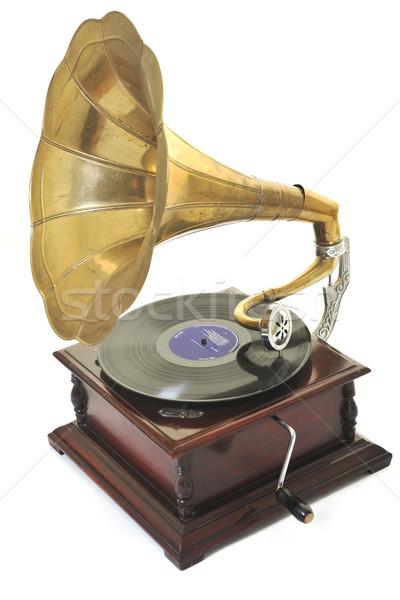 Edad gramófono retro cuerno orador jugando Foto stock © dotshock