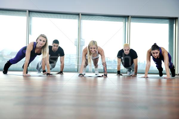 ストックフォト: フィットネス · グループ · 小さな · 健康 · 人 · 行使