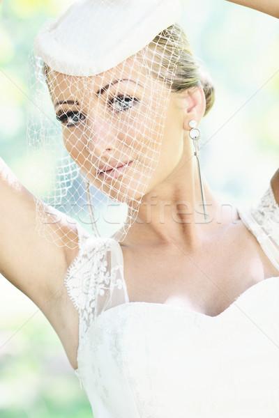 美しい 花嫁 屋外 女性 人 ファッション ストックフォト © dotshock