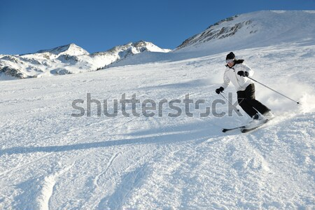 Narty wypadku człowiek jazda konna spadek w dół Zdjęcia stock © dotshock