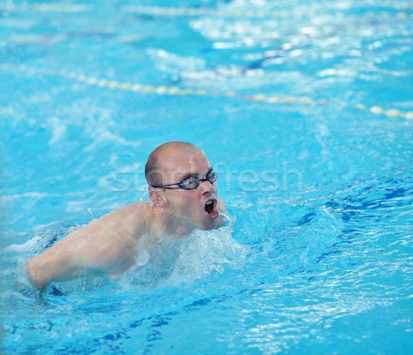 пловец спортсмена здоровья фитнес жизни молодые Сток-фото © dotshock