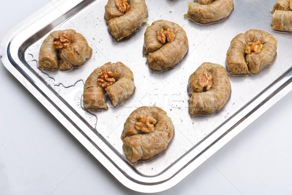 Turco sobremesa tradicional oriente médio delicioso isolado Foto stock © dotshock