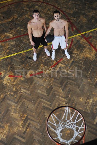 Magie basketbal jonge gezonde mensen man Stockfoto © dotshock