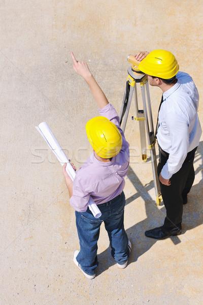 équipe personnes groupe vérifier documents Photo stock © dotshock