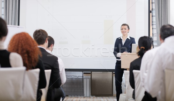business woman giving presentation Stock photo © dotshock