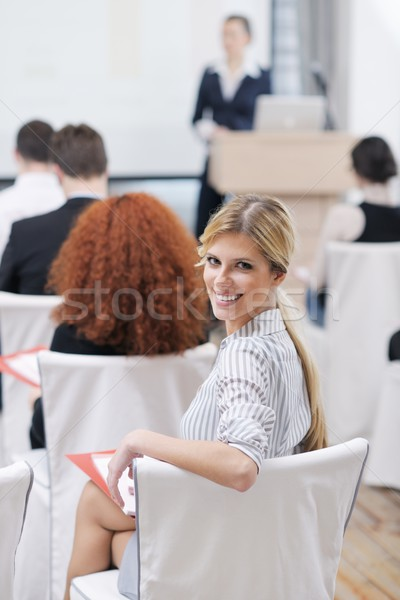 Business woman prezentacji ludzi biznesu grupy spotkanie seminarium Zdjęcia stock © dotshock