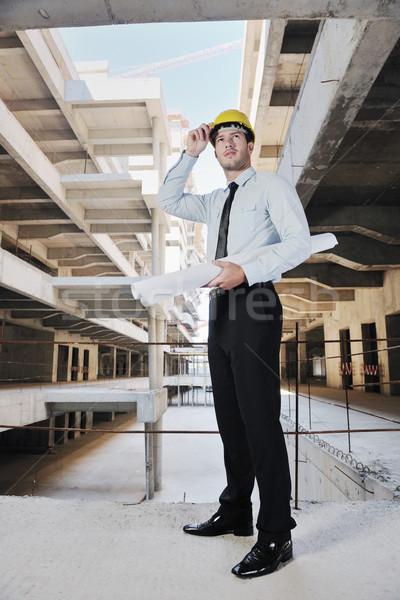 Zdjęcia stock: Architekta · budowa · człowiek · biznesu · inżynier · kierownik · projektu