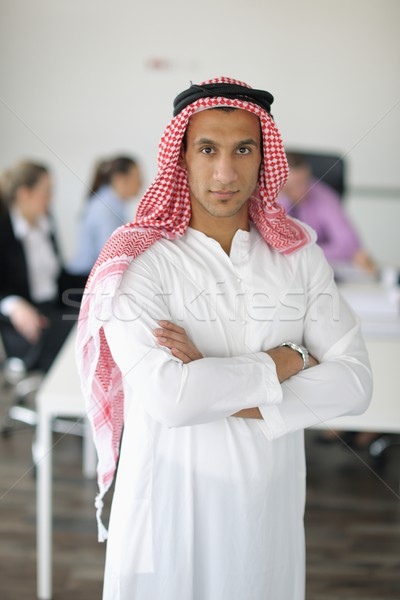 Arabic business man at meeting Stock photo © dotshock