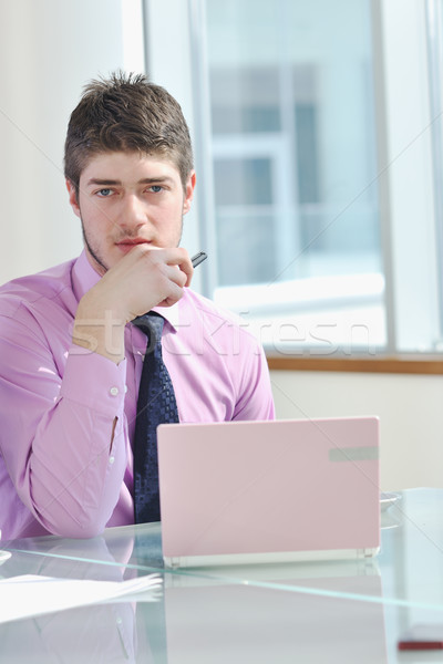 business man alone in conference room Stock photo © dotshock