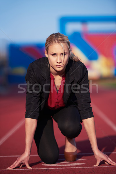business woman ready to sprint Stock photo © dotshock