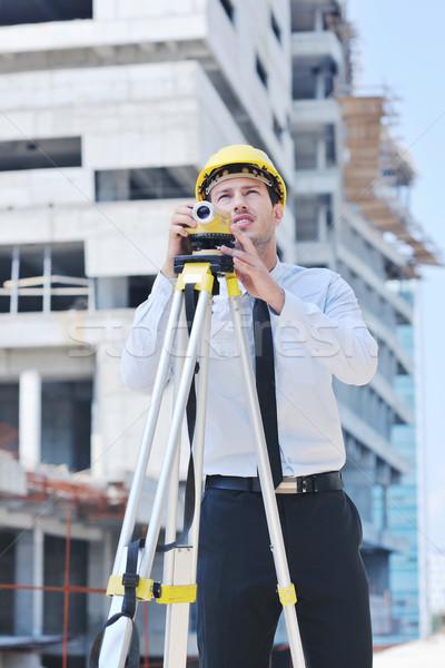 архитектора строительная площадка деловой человек инженер менеджера проект Сток-фото © dotshock