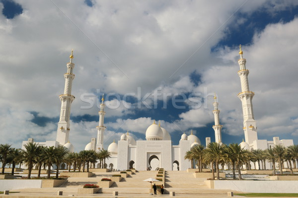 мечети Абу-Даби Ближнем Востоке небе здании каменные Сток-фото © dotshock