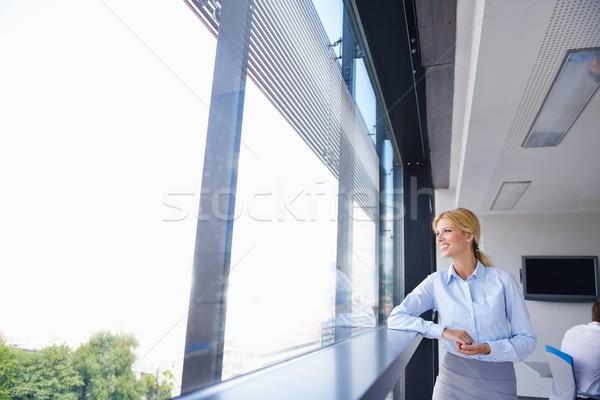Zdjęcia stock: Business · woman · pracowników · biuro · ludzi · grupy · nowoczesne