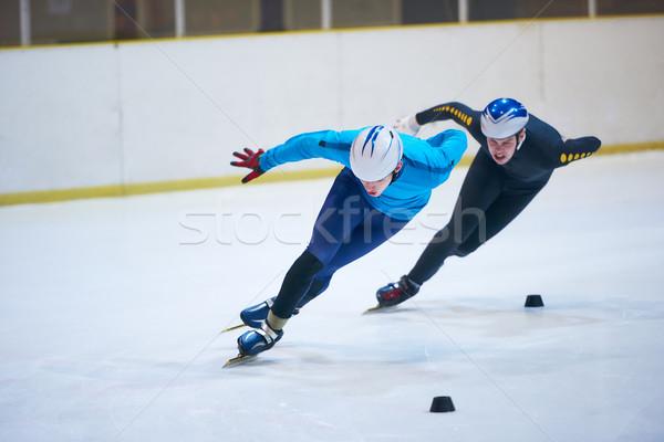 Prędkości skating sportu młodych kobieta Zdjęcia stock © dotshock