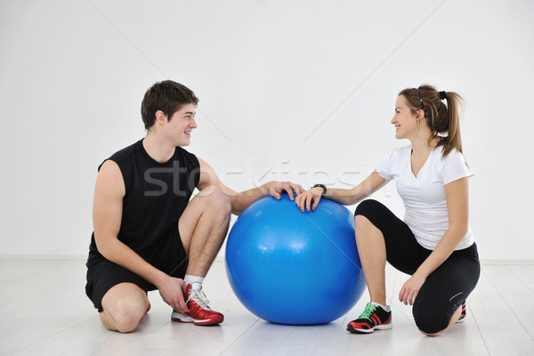 young people group in fitness club Stock photo © dotshock