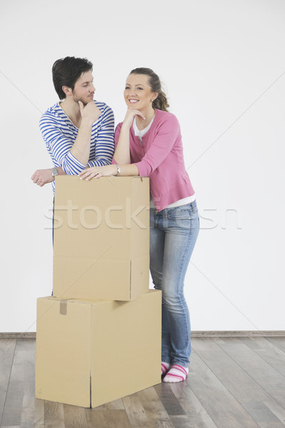 Young couple moving in new home Stock photo © dotshock