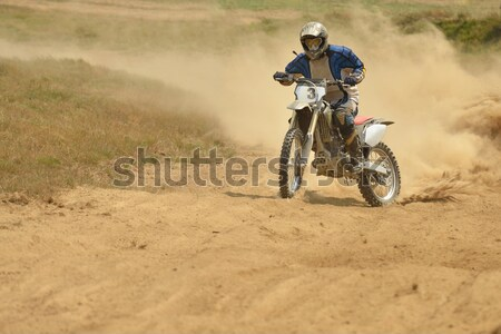 Stockfoto: Motorcross · fiets · race · snelheid · macht · extreme