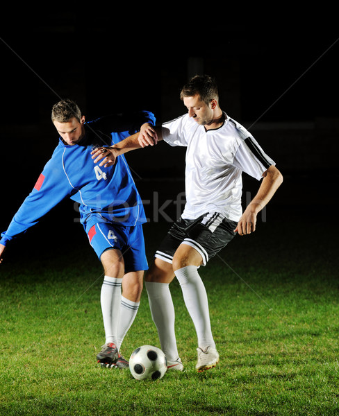 Futball játékosok tevékenység labda verseny fut Stock fotó © dotshock
