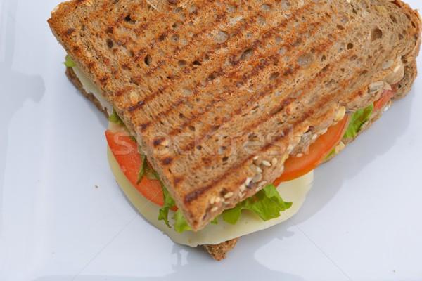 サンドイッチ 新鮮な 野菜 肉 魚 ストックフォト © dotshock