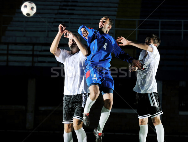 Photo stock: Football · joueurs · action · balle · concurrence · courir