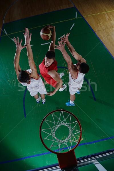 Actie basketbal spel sport speler Stockfoto © dotshock