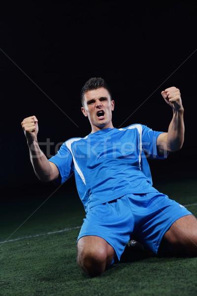 Stockfoto: Voetballer · kick · bal · voetbal · stadion · veld
