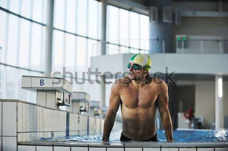 young swimmmer on swimming start Stock photo © dotshock