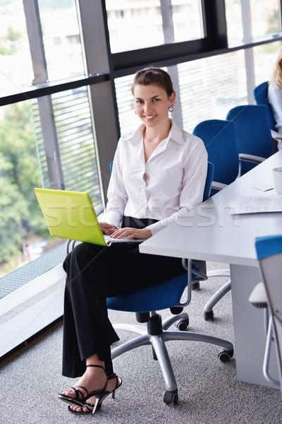 Jungen ziemlich business woman Notebook Büro hellen Stock foto © dotshock