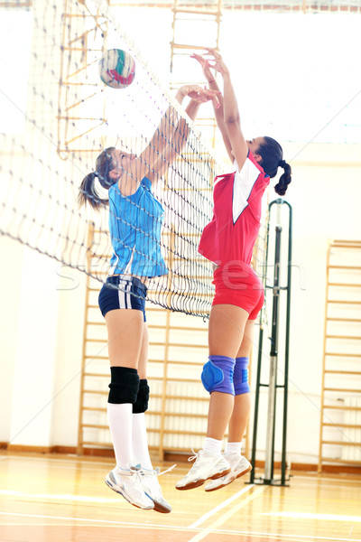 girls playing volleyball indoor game Stock photo © dotshock