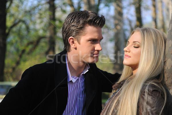 романтические пару любви Открытый счастливым молодые Сток-фото © dotshock