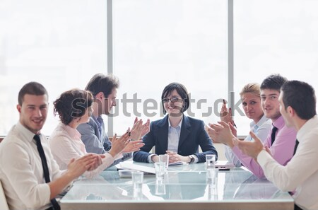 business people in a video meeting Stock photo © dotshock