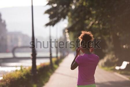 ストックフォト: 幸せ · 若い女性 · アスレチック · リラックス · 女性