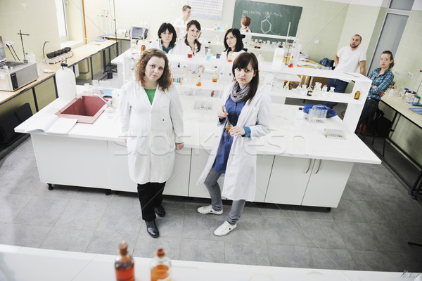 people group in lab Stock photo © dotshock