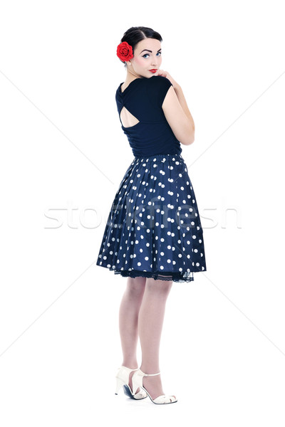 beautiful young woman isolated on white Stock photo © dotshock