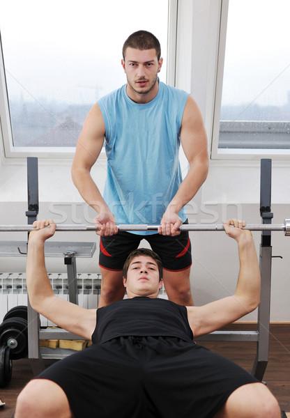 man fitness workout Stock photo © dotshock
