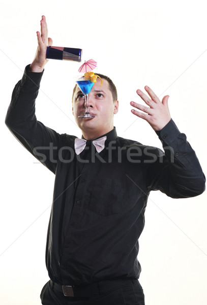 barman portrait isolated on white background Stock photo © dotshock