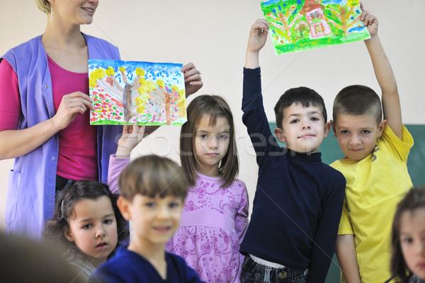 幼稚園 子供 幸せ 子 グループ 楽しい ストックフォト © dotshock
